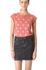 Marc By Marc Jacobs Willa Dot Stripe Shirt - Lyst