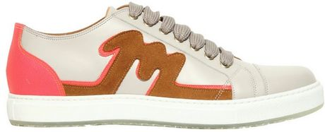 Marc Jacobs Leather Suede Sneakers in Beige for Men (grey/multi) - Lyst