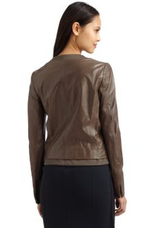 Max Mara Lamb Leather Jacket - Lyst