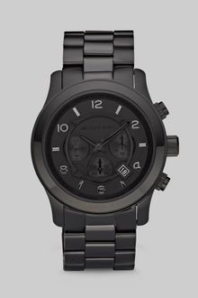 Michael Kors Blackonblack Stainless Steel Chronograph Watch - Lyst