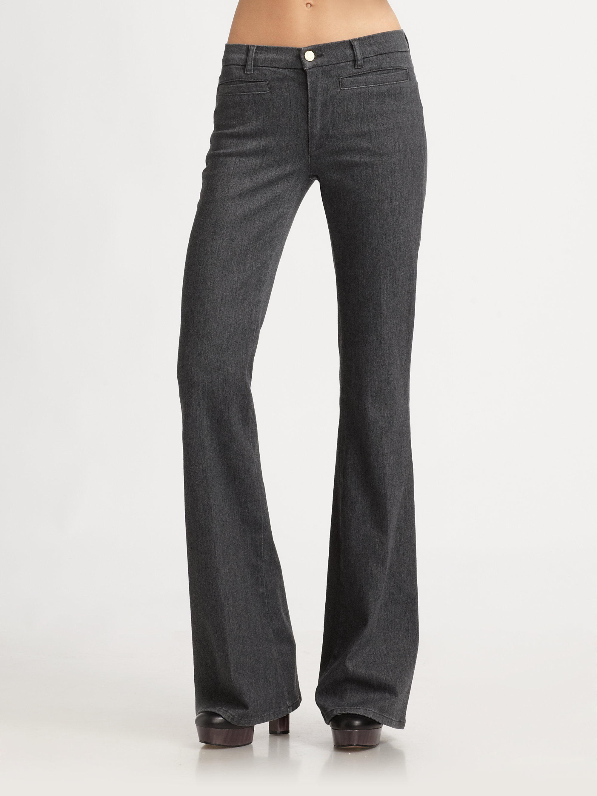 M.i.h jeans Flare Pants in Gray | Lyst
