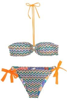 Missoni Zz with Dot Bandeaux Bikini - Lyst