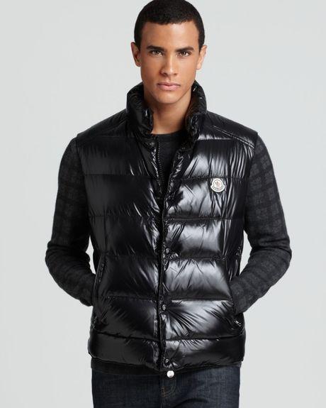 Wholesale Moncler Men Vests - Clothing Moncler Shiny Tib Vest Black