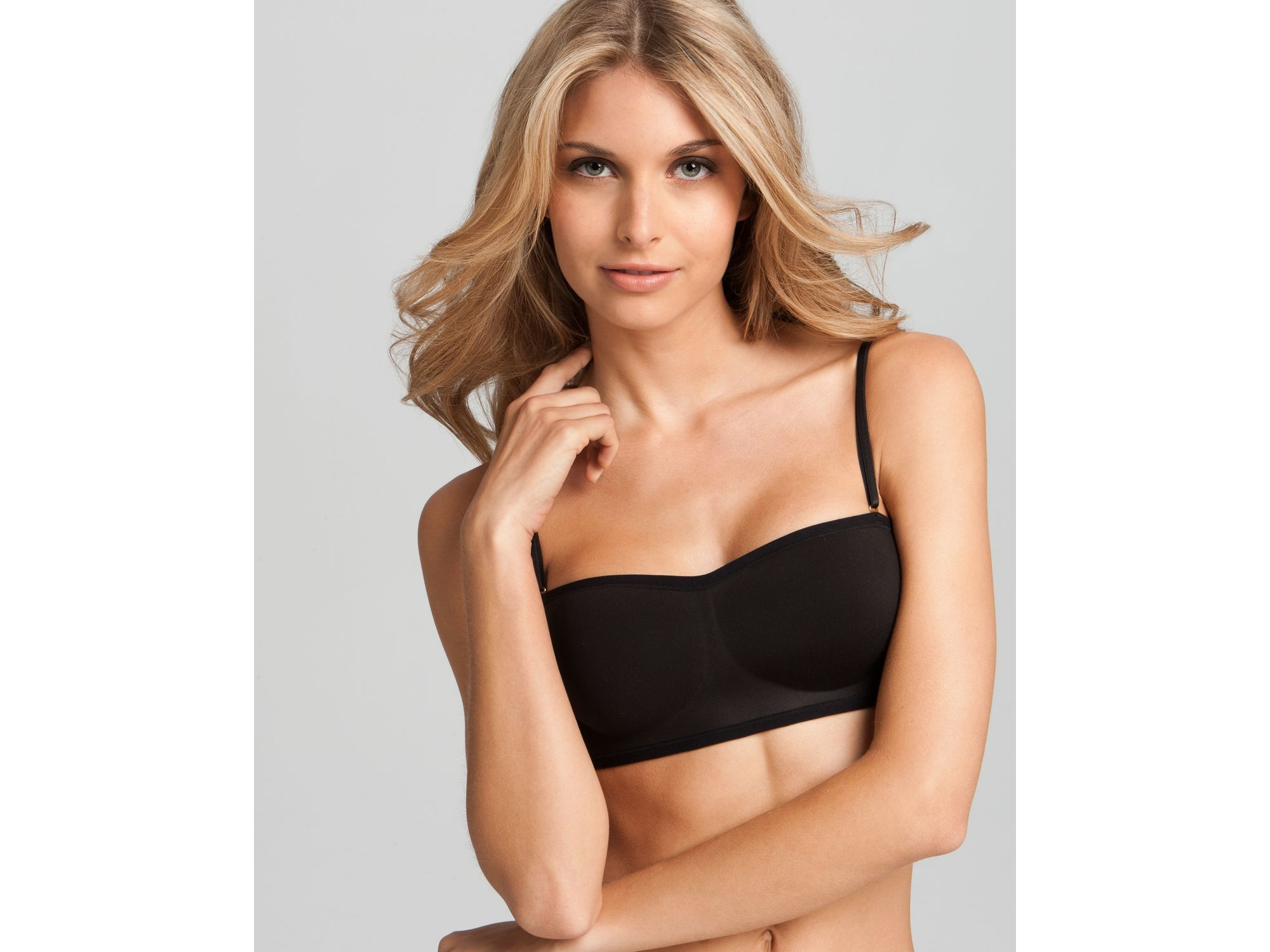 Natori Wireless Contour Bandeau Strapless Bra in Natural | Lyst