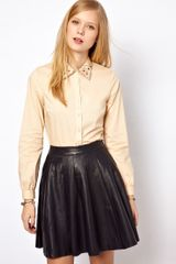 NW3 By Hobbs Nw3 Poppy Blouse with Embroidered Collar - Lyst