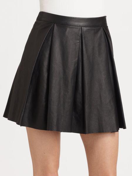 pjk patterson j tartini pleated leather mini
