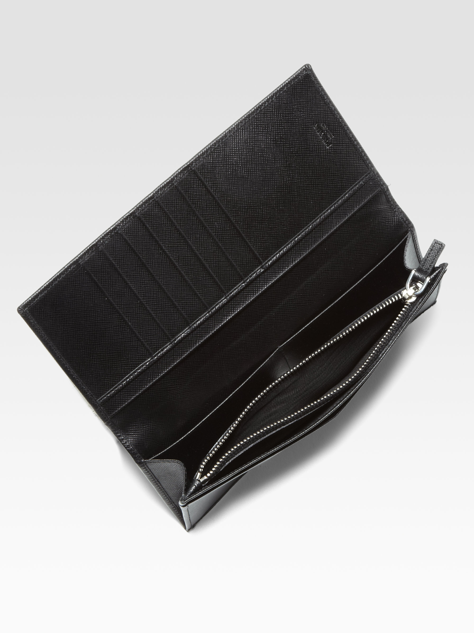 discounted prada bag - prada black leather wallet