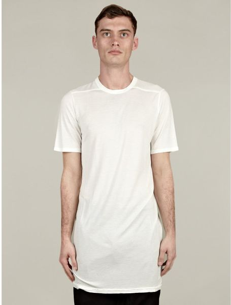 Rick Owens Level Silk T Shirt In White For Men Lyst