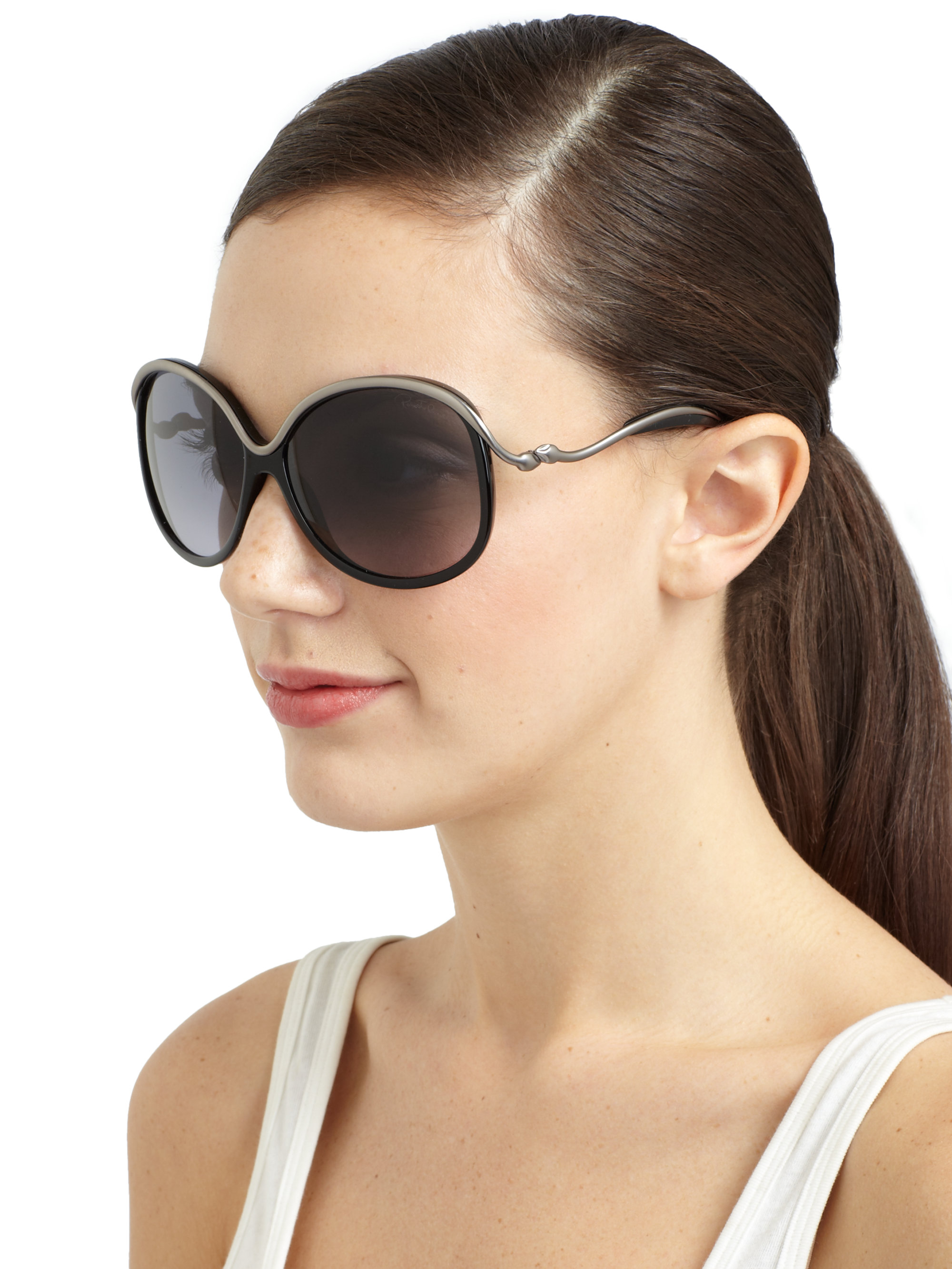 Roberto Cavalli oversize sunglasses Cheap Extremely Cheap Nicekicks Collections For Sale Buy Cheap Best Looking For mM9HPpE