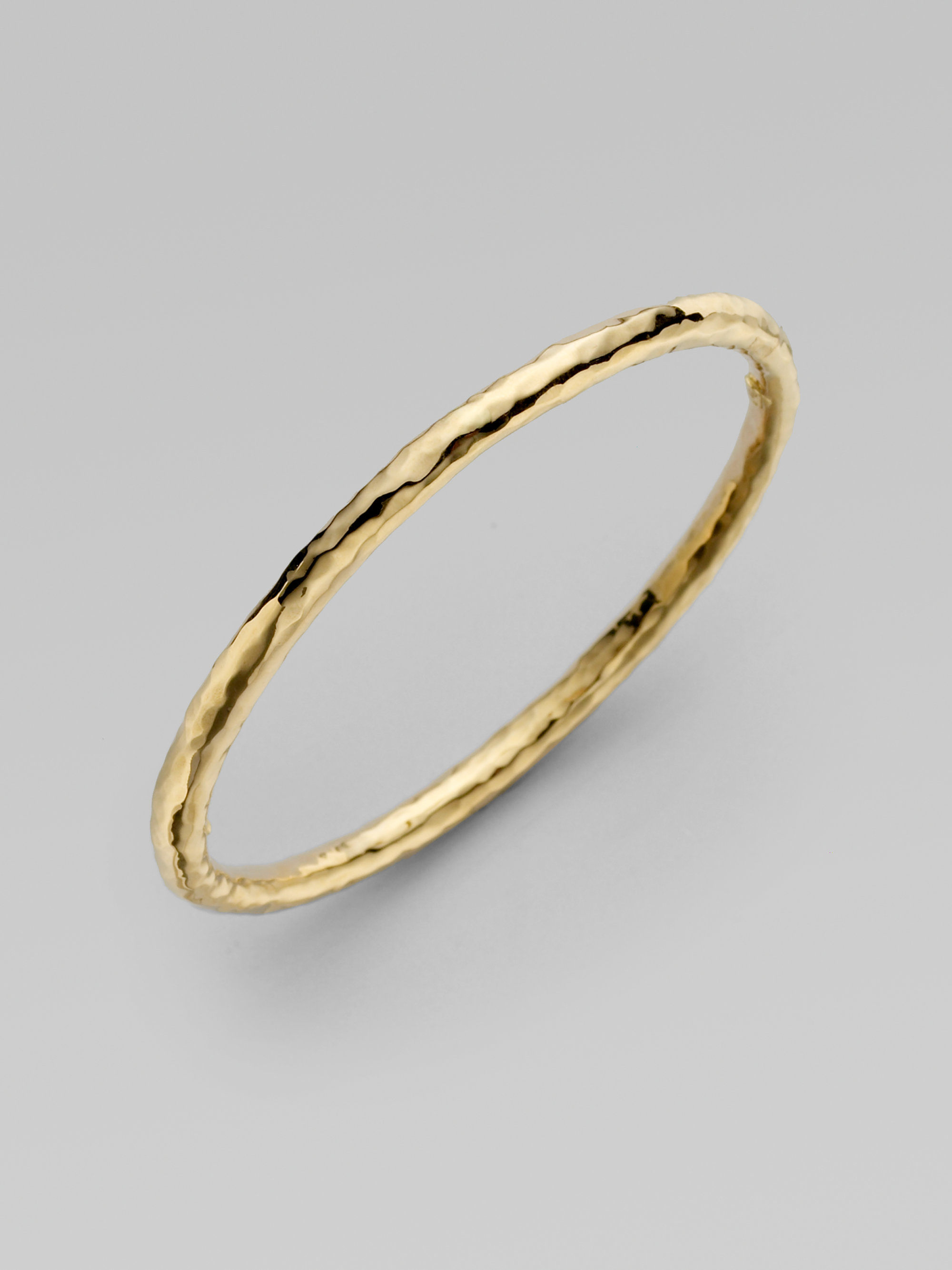 Roberto Coin Martellato 18k Yellow Gold Bangle Bracelet In