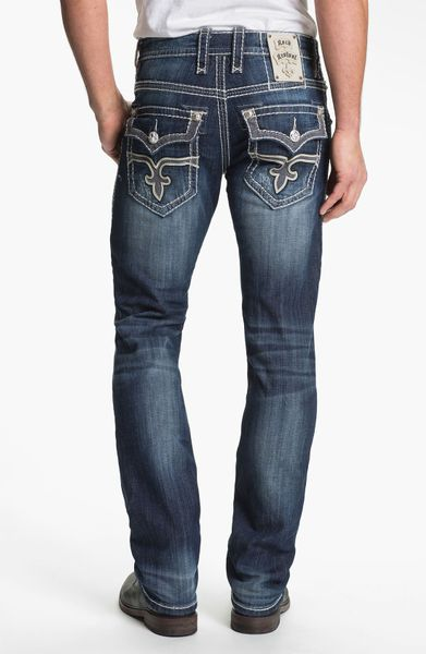 Rock Revival Rocky Straight Leg Jeans Medium Blue In Blue For Men (medium Blue) | Lyst