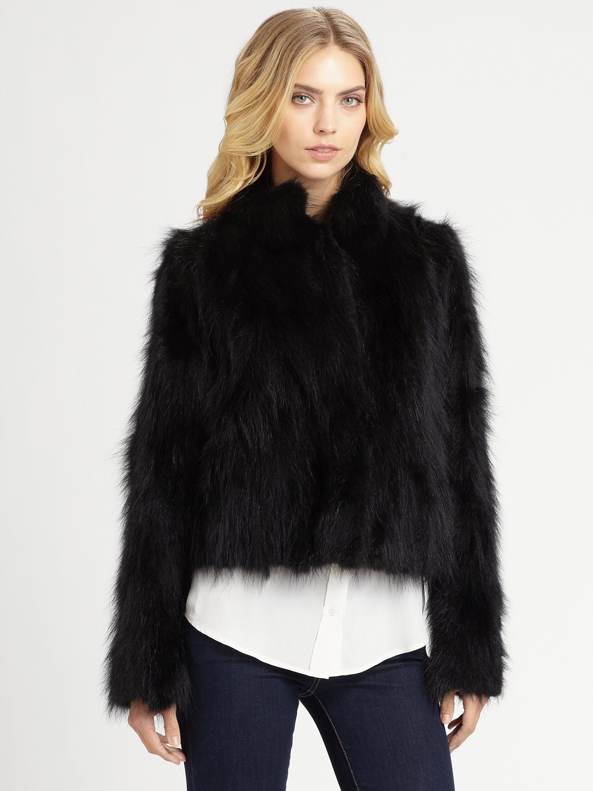 Black Fur Jacket Photo Album - Fashion Trends and Models
