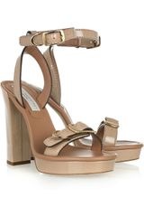 Stella McCartney Faux Patent Leather Sandals - Lyst
