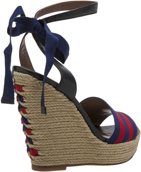 Tabitha Simmons Ankle Wrap Espadrille Sandal In Blue Navy