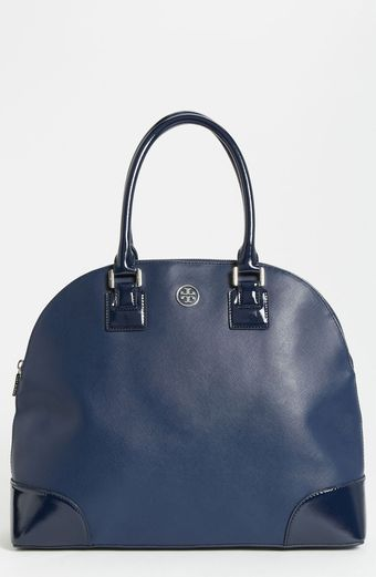 Tory Burch Robinson Dome Satchel - Lyst