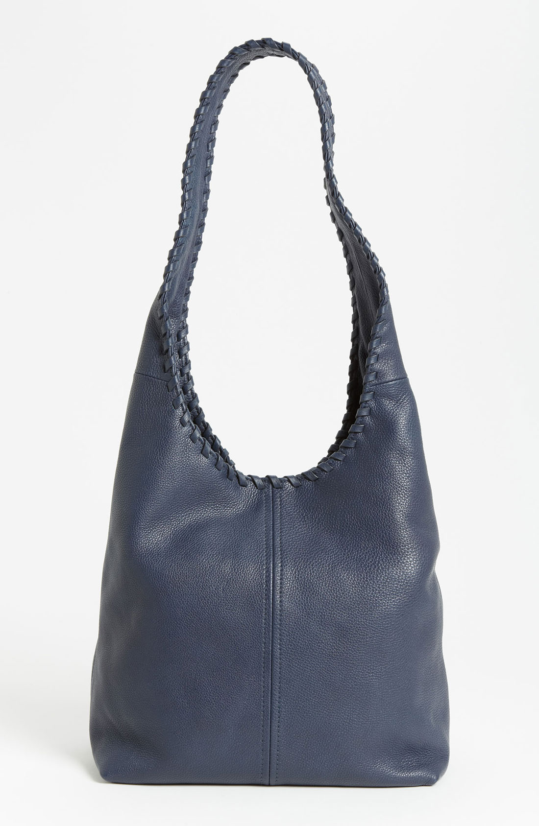 Tory Burch Marion Leather Hobo Bag In Blue Tory Navy Lyst