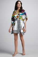 Trina Turk Aquarius Printed Cover-Up Tunic - Lyst