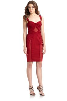 Zac Posen Ruched Chiffon Corset Dress - Lyst