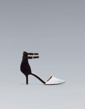 Zara Vamp Shoe with Ankle Straps - Lyst