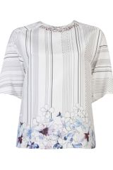 3.1 Phillip Lim Embellished Neck Top - Lyst