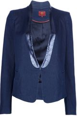 7 For All Mankind Tuxedo Denim Blazer - Lyst