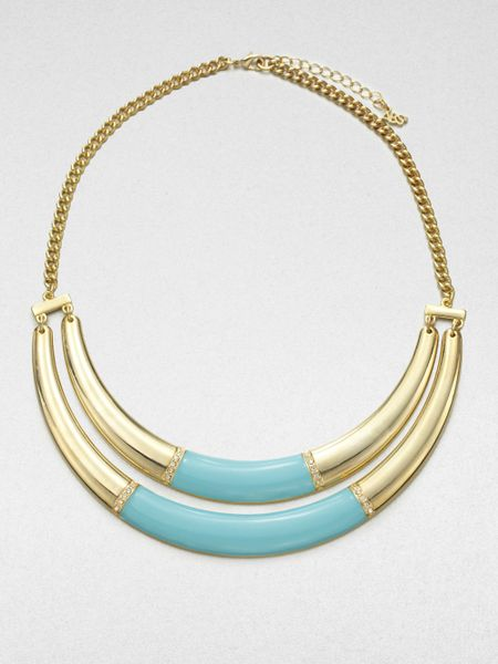 allen jewelry abs by allen schwartz row enamel bib necklace in 6288