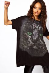 ASOS Collection Asos Oversize Tshirt with Cosmic Cat Face - Lyst