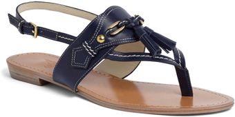 Brooks Brothers Calfskin Spectator Sandals - Lyst