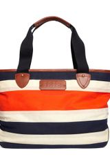 Brooks Brothers Waxed Cotton Canvas Tote