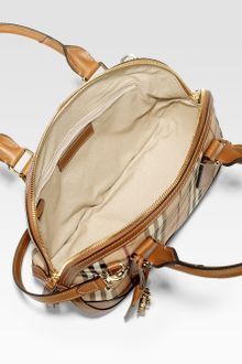 Burberry Orchard Small Mixedmedia Haymarket Bowling Bag - Lyst