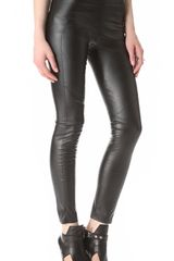 David Lerner Faux Leather Leggings - Lyst
