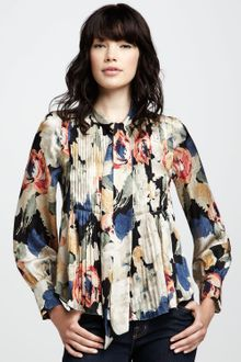 Elizabeth And James Celeste Printed Blouse - Lyst