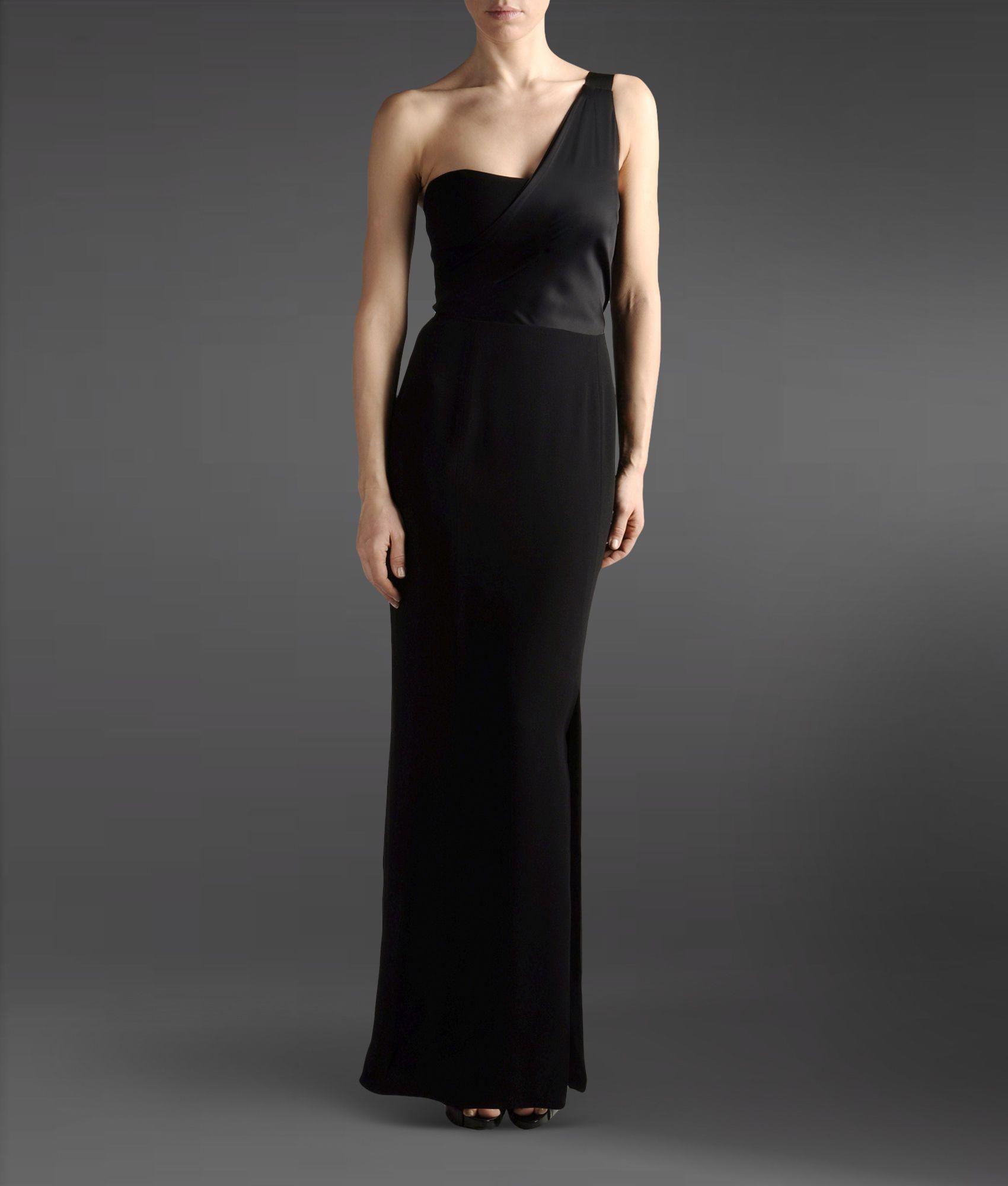 Lyst - Emporio Armani Long Dress in Black