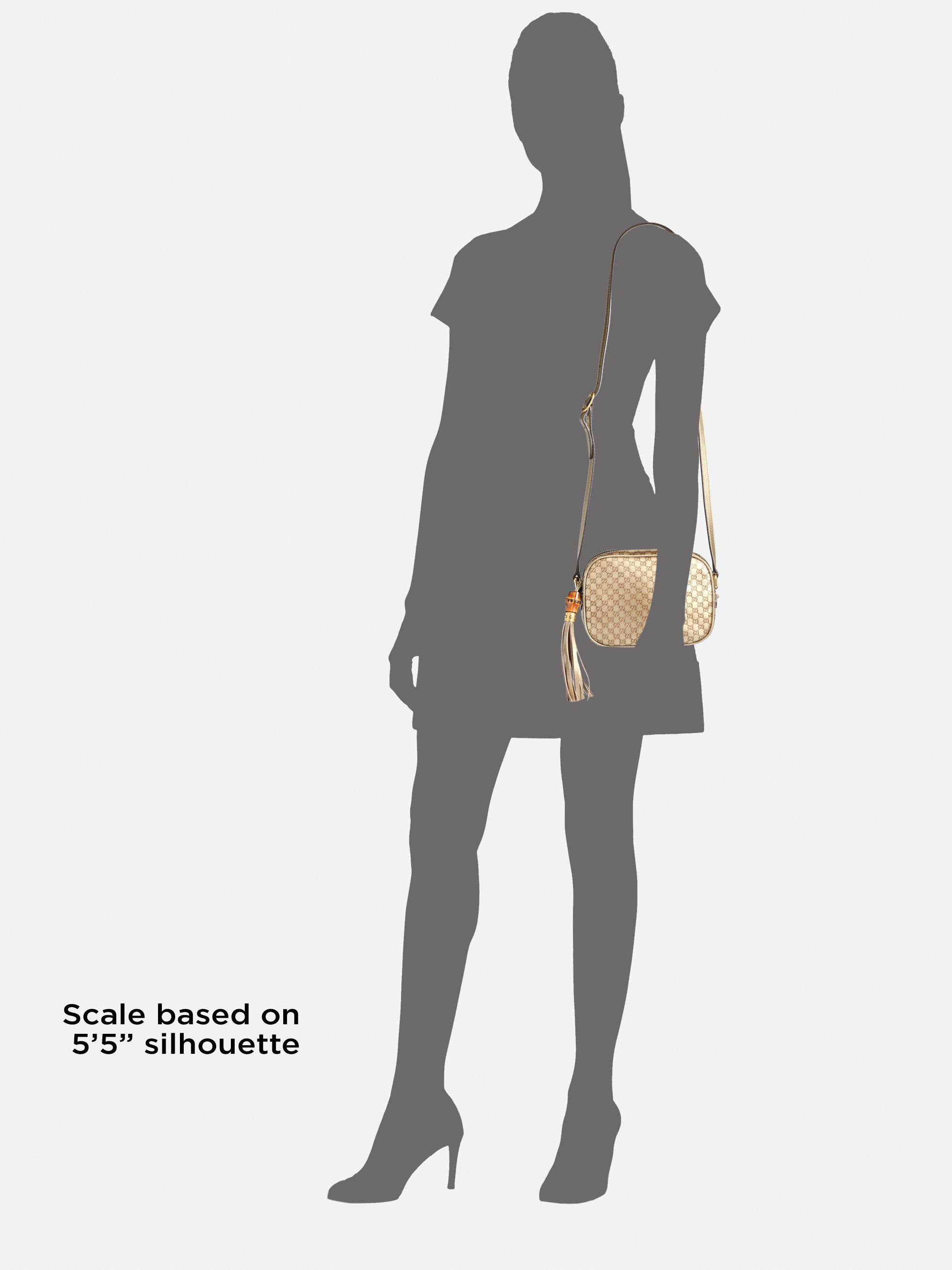 0ace3d4db150f Lyst - Gucci Sunshine Metallic Microguccissima Disco Bag in Natural