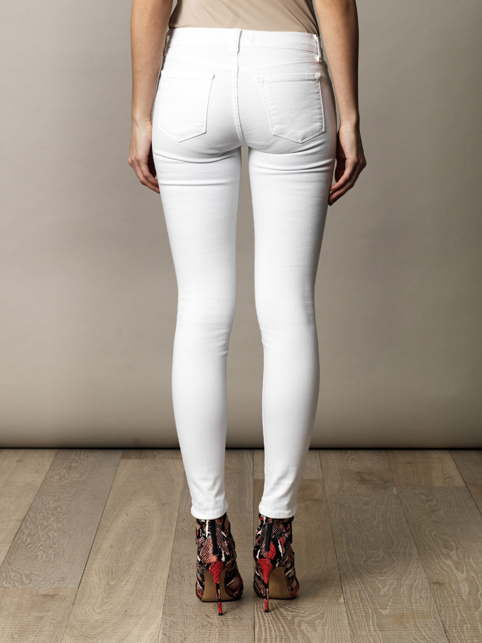 J brand 811 Midrise Skinny Jeans in White | Lyst