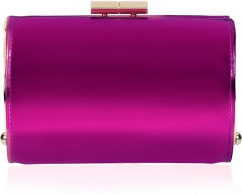 Jimmy Choo Mini Tube Mirroredleather Clutch - Lyst