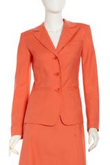 Lafayette 148 New York Topstitched Poplin Jacket Sunset - Lyst