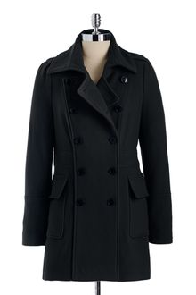 Marc New York Double Breasted Wool Coat - Lyst