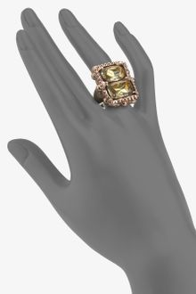 Oscar de la Renta Faceted Stone Ring - Lyst