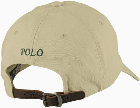 polo ralph lauren classic chino sport cap in for men khaki lyst. Black Bedroom Furniture Sets. Home Design Ideas