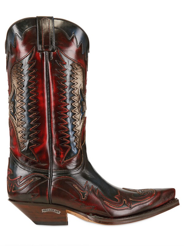 Lyst Sendra 40mm Leather Cowboy Boots In Red