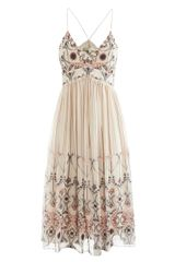Vanessa Bruno Printed Silk Strappy Dress - Lyst