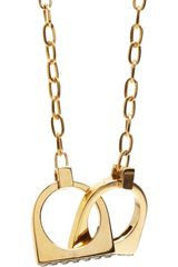A.L.C. Brass Handcuff Necklace - Lyst