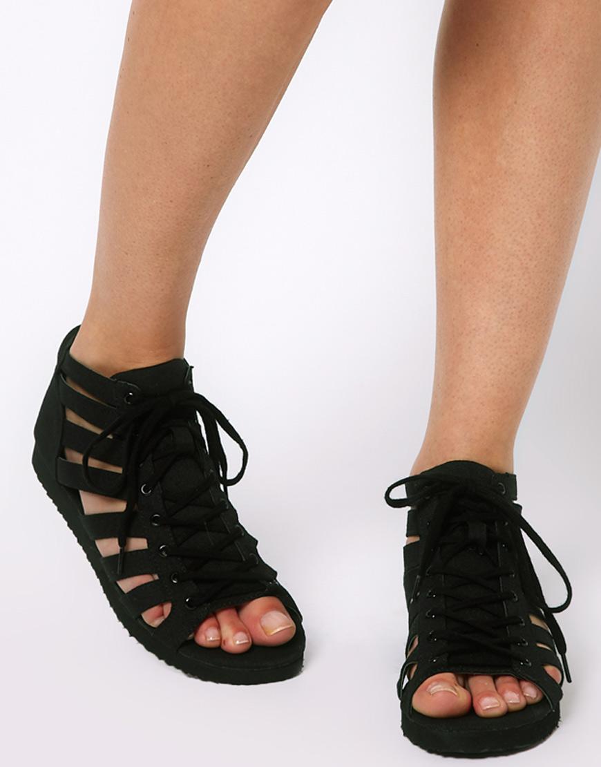 Black enclosed sandals - Gallery Women S Gladiator Sandals
