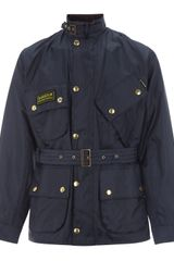 Barbour Navy Nylon International Jacket - Lyst