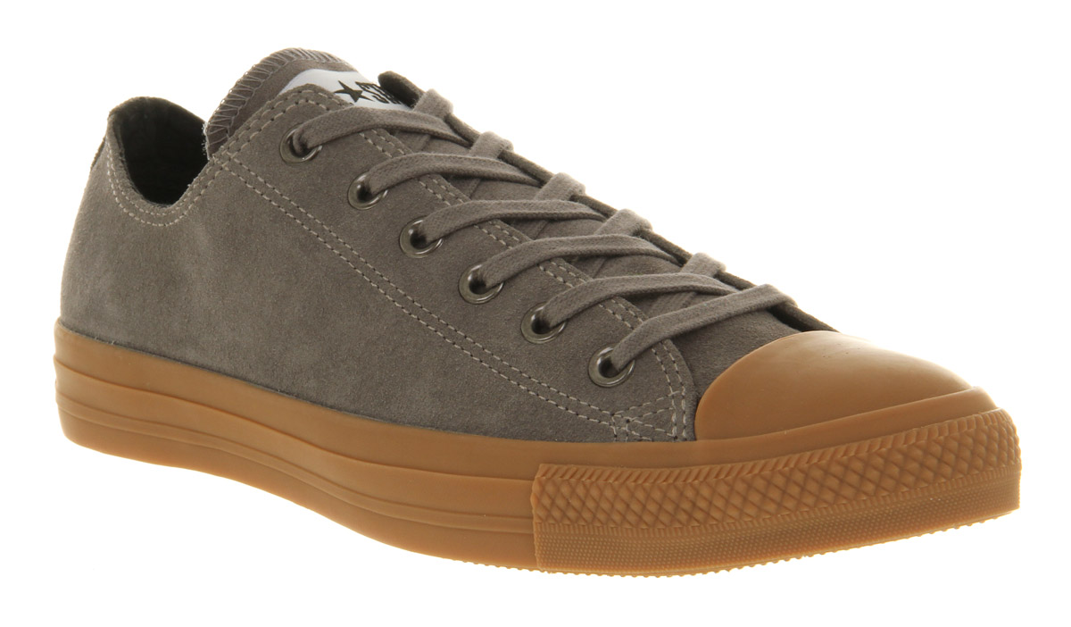 6912cf76382 Lyst - Converse All Star Ox Low Steal Grey Suede Gum Sole Exclusive ...