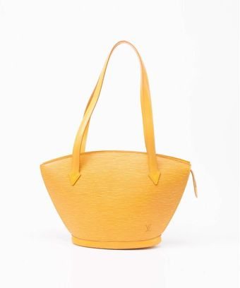 Louis Vuitton Yellow Epi Leather Stjacques Vintage Large Tote - Lyst