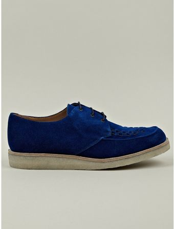 Paul Smith Mens Lux Creeper Blue Suede Shoe - Lyst