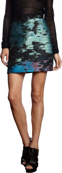 Proenza Schouler Multicolor Tweed Skirt - Lyst