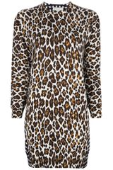 Stella McCartney Printed Animal Print Dress - Lyst